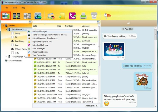backup all iPhone Viber messages to PC or Mac