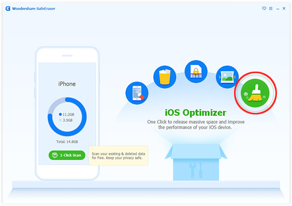 choose iOS/iPhone optimizer mode