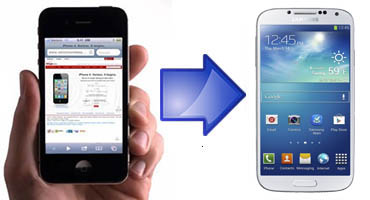transfer data from iPhone to samsung galaxy s4