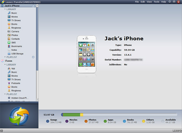 free software to transfer files from iphone to pc