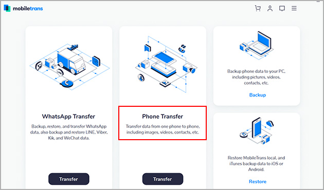 select phone to phone transfer