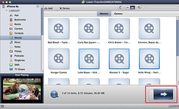 transfer iphone files to iTunes