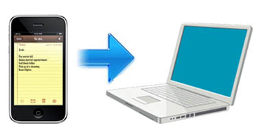 transferring iphone notes to a computer