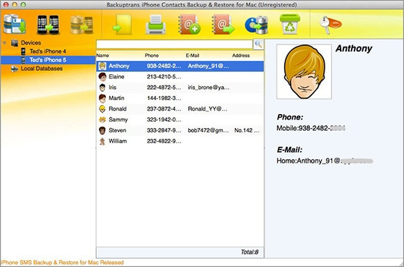 How to Copy iPhone Contacts to Mac with iPhone Contacts to