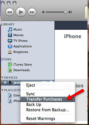 transfer iphone apps to itunes